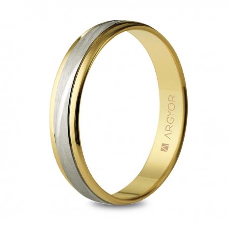 Alianza de boda bicolor 5240329