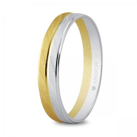Alianza de boda bicolor 5240426