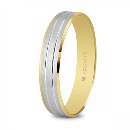 Alianza de boda bicolor 5240436