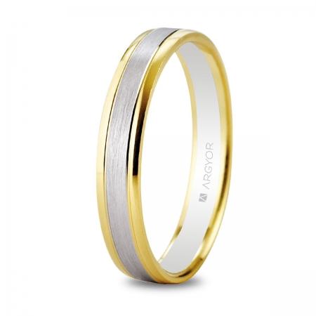 Alianza de boda bicolor 5240496