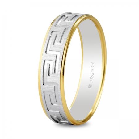 Alianza de boda bicolor 5245448