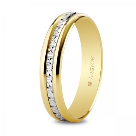 Alianza de boda bicolor 5245463
