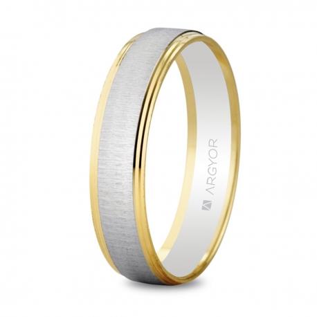 Alianza de boda bicolor 5245466