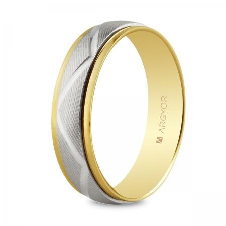 Alianza de boda bicolor 5250138