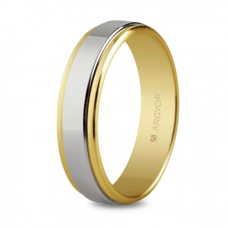 Alianza de boda bicolor 5250158