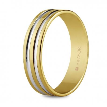 Alianza boda oro bicolor 5150210R