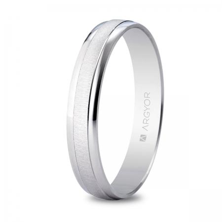 Alianza boda 3,5mm oro blanco 5B35495
