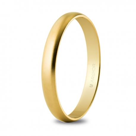 Alianza boda oro 3mm satinada (50253S)