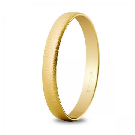 Alianza boda oro 3mm texturizada 50302T