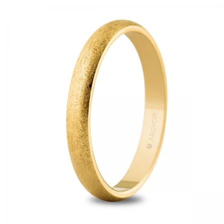 Alianza boda de oro 3mm hielo (50306H)