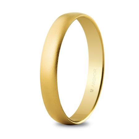 Alianza de boda oro 3,5mm arena (50353M)