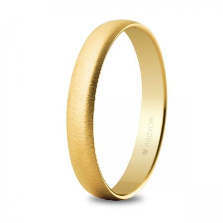 Alianza oro 3,5mm texturizada (50353T)