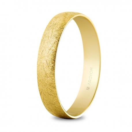 Alianza de oro hielo 4mm (50403H)