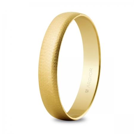 Alianza de oro texturizada 4 mm (50403T)