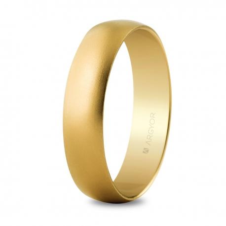 Alianza boda oro 5mm arena (50505M)