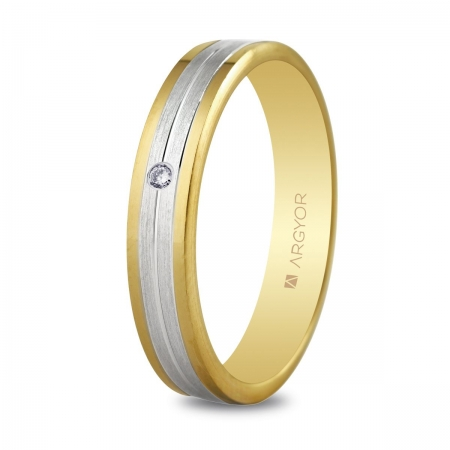 Alianza de boda bicolor 5240406D