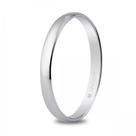 Alianza de boda oro blanco 2,5mm (5B253)