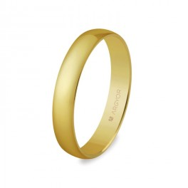 Alianza de boda ,media cana oro amarillo 3,5mm