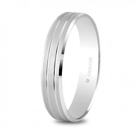 Alianza boda oro blanco 5B40436
