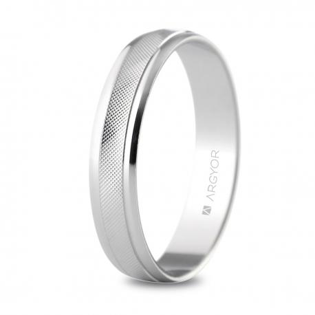 Alianza de boda 4mm oro blanco 5B40501