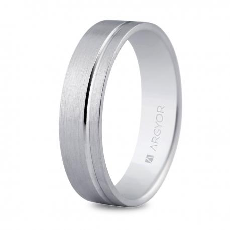 Alianza oro blanco 5mm confort (5B50316)