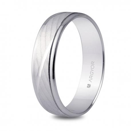 Alianza boda oro blanco 5B50329