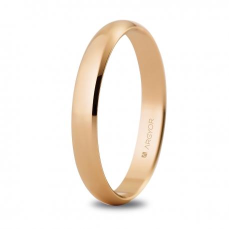 Alianza de boda oro rosa 5C305