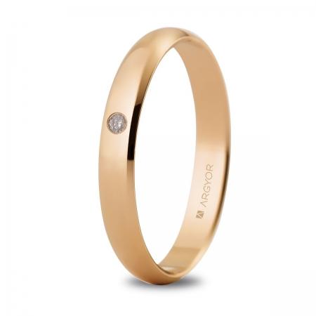 Alianza de boda oro rosa 5C305D