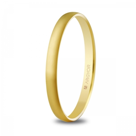 Alianza de boda, de oro amarillo y nueve quilates 2mm