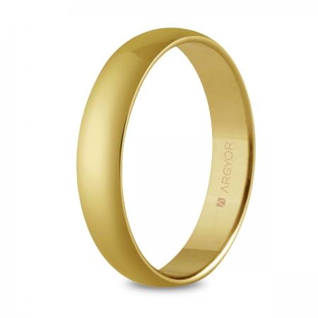 Alianza de boda, de oro amarillo y nueve quilates 4mm