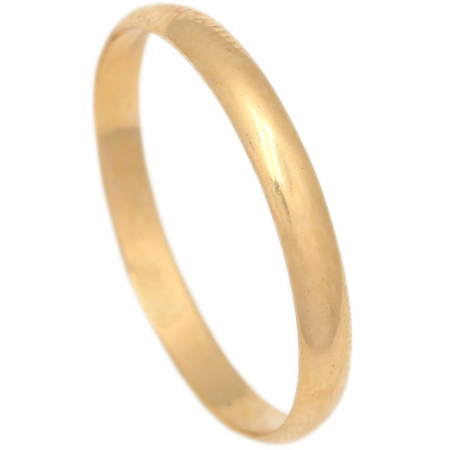 ALIANZA LISA MEDIA CANA  ORO 2.5MM. ORO DE 18K