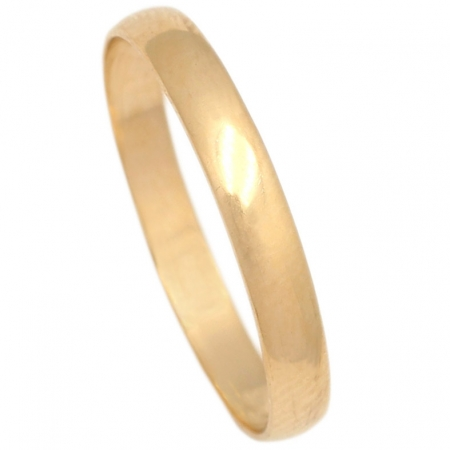 ALIANZA LISA MEDIA CANA ORO 3MM. ORO DE 18K