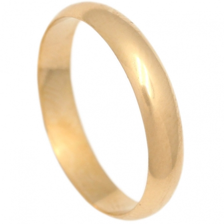 ALIANZA LISA MEDIA CANA ORO 4MM. ORO DE 18K