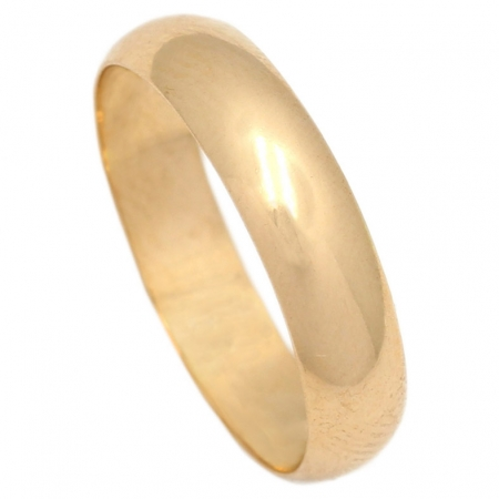 ALIANZA LISA MEDIA CANA  ORO 5MM. ORO DE 18K